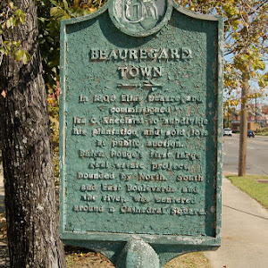 In 1806 Elias Beauregard commissioned Ira C. Kneeland to subdivide his plantation and sold lots at public auction. Baton Rouge's first large real estate project, bounded by North, South and East ...