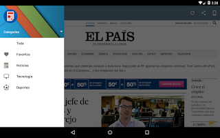 Screenshot of Spanish Newspapers