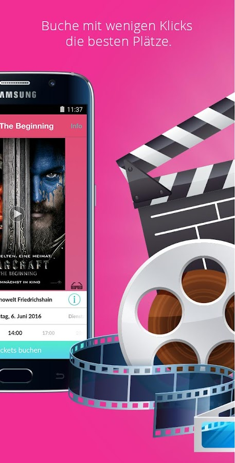 CineApp - MovieTimes + Tickets Screenshot 1