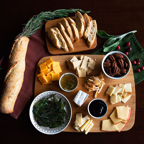 Cheese Party Platter With Cranberry-balsamic Reduction, Curried Brown Sugar Pecans & Fried Sage (and More!)