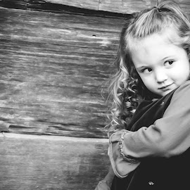 Kaylee by Jenny Hammer - Babies & Children Child Portraits ( child, girl, black and white, outdoor, cute, portrait )