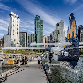 Plane City by John Chitty - City,  Street & Park  Skylines ( float plane, cityscape, float, vancouver, planes )