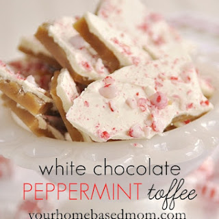 White Chocolate Peppermint Toffee