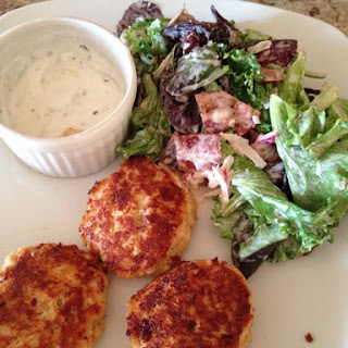 Crab/Salmon/Tuna Cakes! Whatever's in the cupboard!