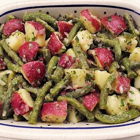 Warm Potato, Green Bean and Red Onion Salad