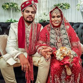 Indian Muslim Wedding  by Abdul Salim - Wedding Bride & Groom
