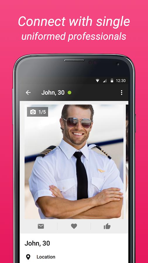uniform dating app
