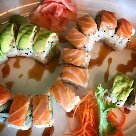 Sushi Time! by Lorna Littrell - Food & Drink Plated Food ( food, sushi, plated food )