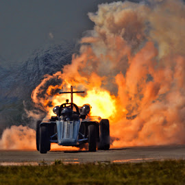 Smoke and Thunder Jet Car by Tom Anderson - Transportation Other ( coinforce jet racer, smoke and thunder, riverside, ca air show 2014 )