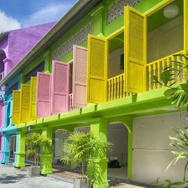 Full coloured by Jeece Gallay - City,  Street & Park  Street Scenes ( phuket, thailande )
