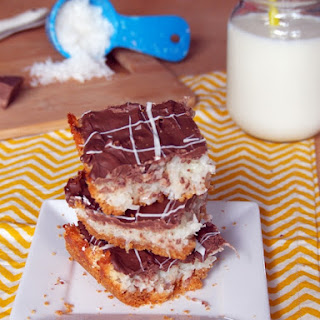 Chocolate Covered Macaroon Bars