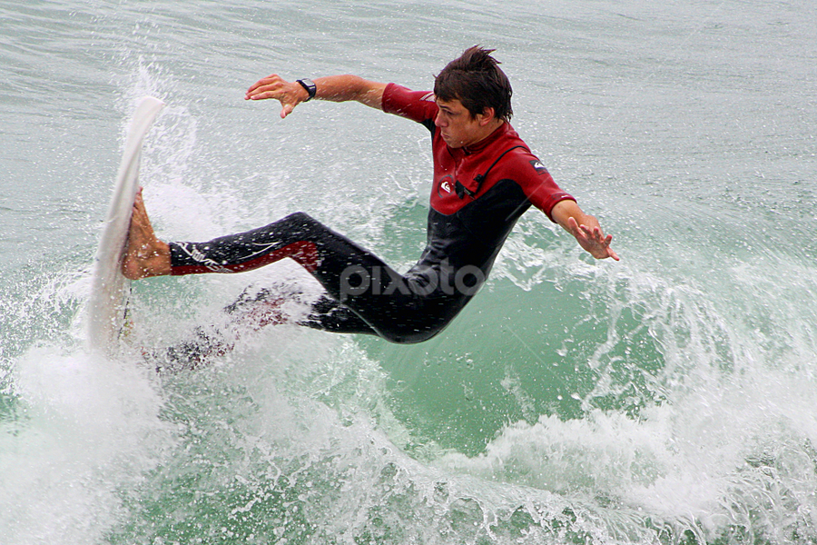 Surfing At New Brighton Beach by Phil Le Cren - Sports & Fitness Surfing ( pwcwatersports, surfing, sport, surf )