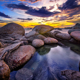 Rock at the beach by Dany Fachry - Landscapes Beaches (  )