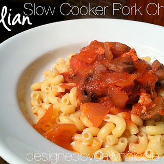 Italian Slow Cooker Pork Chops