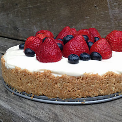 No-Bake Red, White And Blue Cheesecake