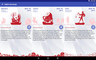 Screenshot of Stylish Horoscope