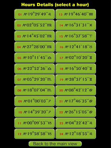 Wiccan Planetary Hours Clock - screenshot