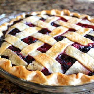 Triple Berry Pie with Lattice Top
