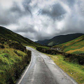 Country roads by Elaine Delworth - Landscapes Mountains & Hills ( clouds, countryside, hills, mountain, roads )