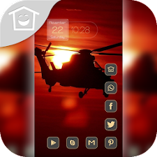 Beautiful red sunset theme