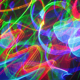 laser insanity by Jim Barton - Abstract Patterns ( laser light, colorful, light design, laser design, mania, laser, madness, laser insanity, laser light show, lunacy, light, science )