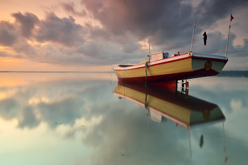 Ship Reflection by Gunk Satria - Transportation Boats