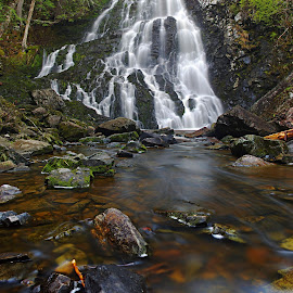 Hays Falls by Rod Fewer - Landscapes Waterscapes ( panorama, waterscape, nature, waterfall, long exposure, landscape,  )