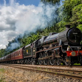 steam train by Alastair Graham - Transportation Trains ( sky, nature, yorkshire, locomotive, steam train, sony alpha, outdoors, landscape, steam )