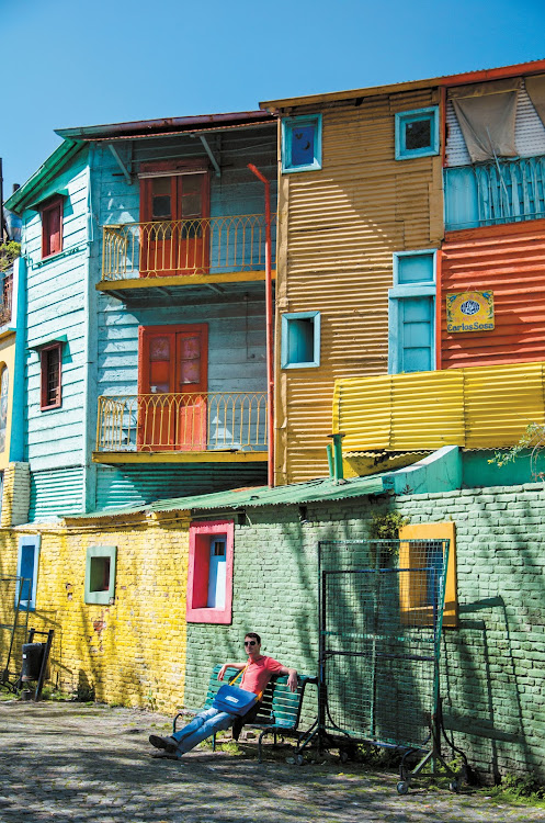 Crayon-coloured old houses in La Boca.