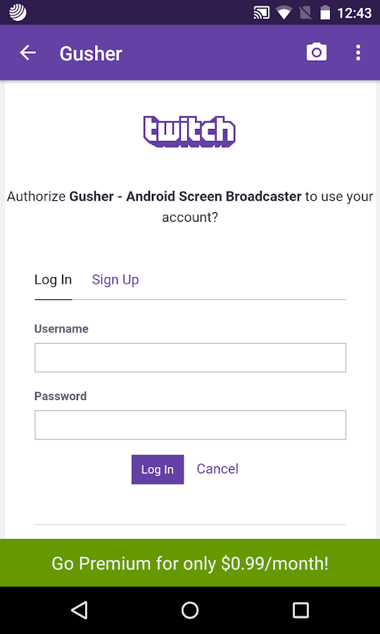 Gusher - Screen Broadcaster Screenshot 1
