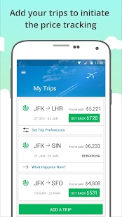 FairFly- save $ after you book - screenshot