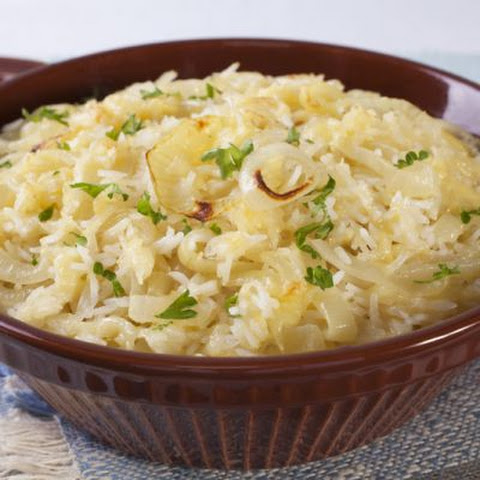Sweet Onion And Swiss Rice Casserole
