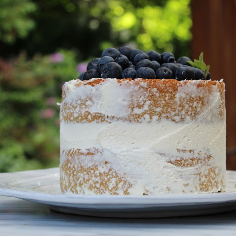 Lemon Lavender Blueberry Cake