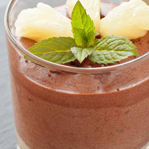 Homemade Chocolate Mousse With Pineapple