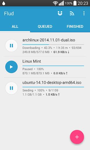 Flud - Torrent Downloader screenshot 1