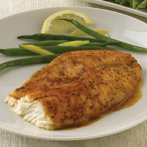 Simply Bake Tilapia with Skillet Green Beans