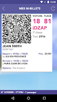 Screenshot of iDTGV