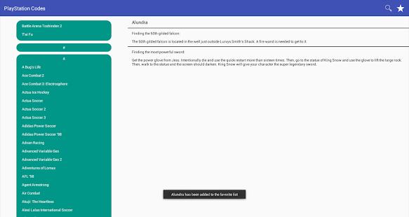 Codes for PlayStation APK for Bluestacks