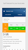 Screenshot of Surfline Surf Reports/Forecast