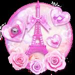 Pink Love Eiffel Tower Theme ? Icon