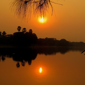 sunset at Kolkata by Srabani Mitra - Landscapes Sunsets & Sunrises ( nature, sunset, kolkata )