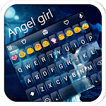 Angel Girl Emoji Keyboard Skin APK Image
