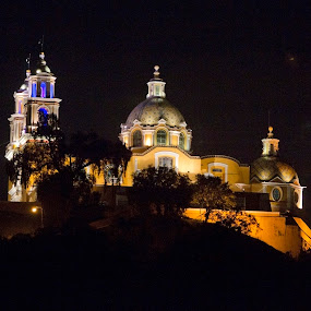 cholula by Cristobal Garciaferro Rubio - Buildings & Architecture Public & Historical ( cholula, volcano, church, popo, mexico, puebla, popocatepetl )