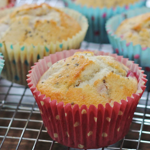Lemon and Raspberry Chia Seed Muffins