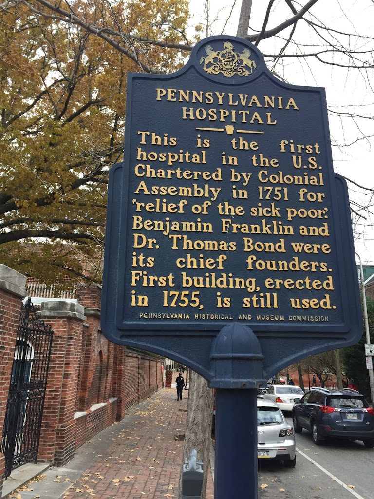 This is the first hospital in the U.S. Chartered by Colonial Assembly in 1751 for
