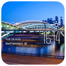 Moscow weather widget/clock
