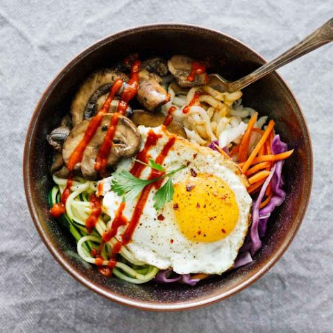 Vegetarian Spicy Korean Bibimbap Bowls