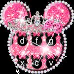 Pink Cute Minny Bowknot Keyboard Theme Icon
