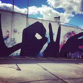#love #mural #wallart #madison #signlanguage #hands by Angela Copper - City,  Street & Park  Street Scenes