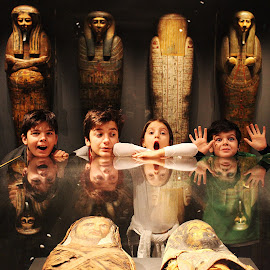 Night at museum by Adi Drnda - Babies & Children Children Candids ( mommy, children, museum, egypt, photography )